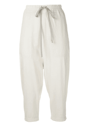 Rick Owens DRKSHDW drawstring cropped trousers - Neutrals
