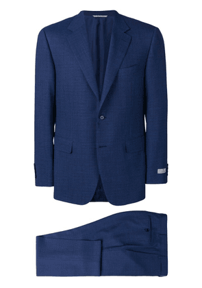 Canali micro-check suit - Blue