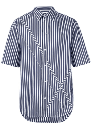 3.1 Phillip Lim striped X detail shirt - Blue