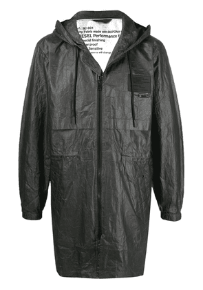 Diesel thermosensitive hooded parka - Black