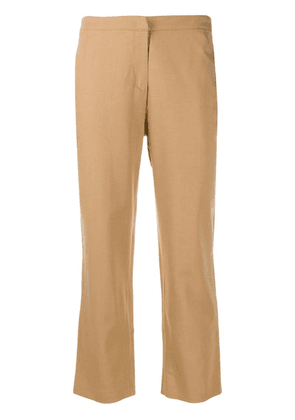 Federica Tosi slim-fit cropped trousers - Brown