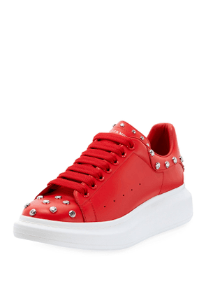 Men's Studded Leather Low-Top Sneakers with Oversize Sole