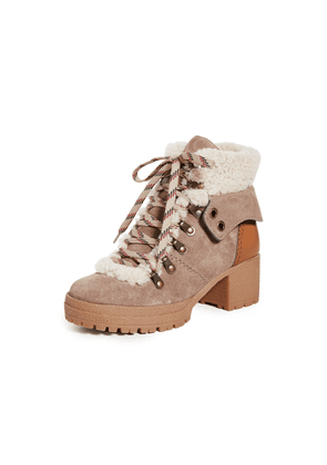 See by Chloe Eileen Mid Shearling Hiker Boots