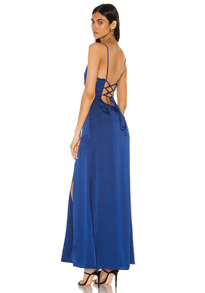 Privacy Please Jolie Maxi Dress in Royal. Size M,S,XL,XS,XXS.
