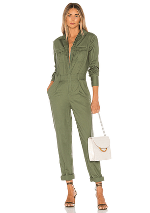 Tularosa Valley Jumpsuit in Olive. Size M,S,XL,XS,XXS.