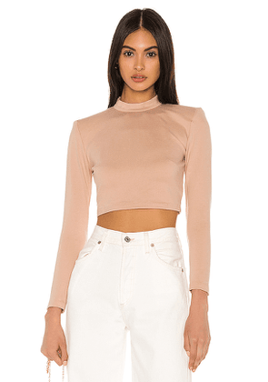 NBD Jackie Crop Top in Taupe. Size M,S,XL,XS,XXS.