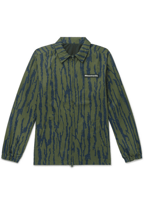 Billionaire Boys Club - Reversible Printed Shell Coach Jacket - Green