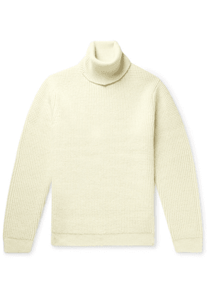 Theory - Textured-knit Wool And Alpaca-blend Rollneck Sweater - Ivory