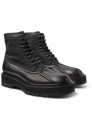 Givenchy - Camden Leather And Canvas Boots - Black