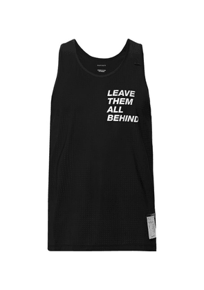 Satisfy - Printed Stretch-mesh Tank Top - Black