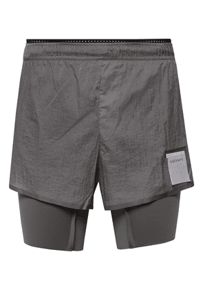 Satisfy - Coffee Thermal Short Distance Ripstop And Justice Shorts - Gray