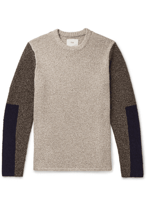 Folk - Colour-block Knitted Sweater - Neutral