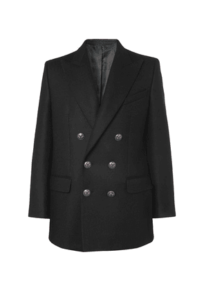 Givenchy - Black Double-breasted Wool Blazer - Black