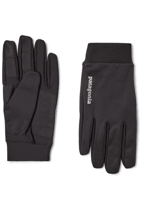 Patagonia - Logo-print Wind Shield Gloves - Black