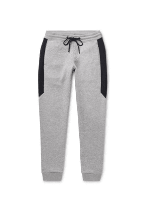 Orlebar Brown - Cuthbert Slim-fit Tapered Mélange Cotton-blend Jersey Sweatpants - Gray