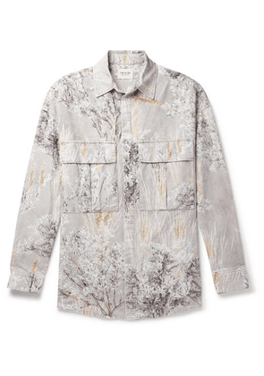Fear of God - Oversized Printed Brushed-cotton Shirt - Neutral