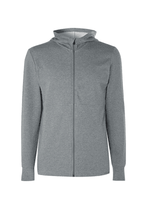 FALKE Ergonomic Sport System - Stan Cotton-blend Jersey Hoodie - Gray