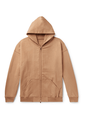 Fear of God - Oversized Loopback Cotton-jersey Zip-up Hoodie - Brown