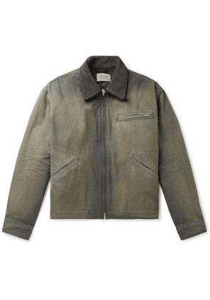 Fear of God - Suede-trimmed Cotton-canvas Jacket - Green