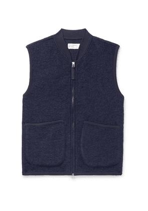 Universal Works - Textured Wool-blend Gilet - Navy
