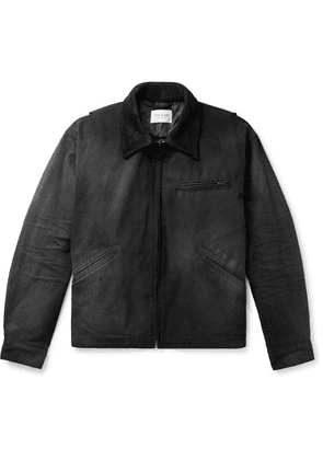 Fear of God - Suede-trimmed Cotton-canvas Jacket - Black