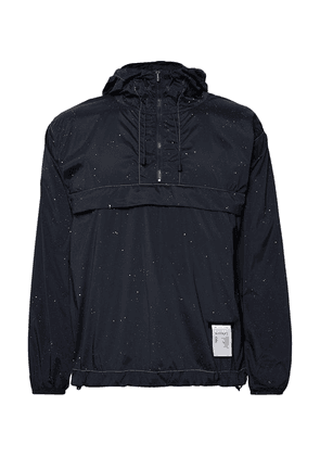 Satisfy - Printed Stretch-shell Hooded Anorak - Navy
