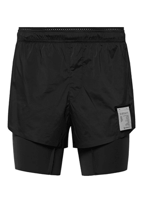 Satisfy - Layered Justice And Coldblack Shorts - Black