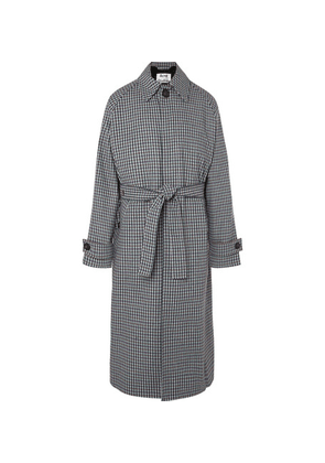 Acne Studios - Oversized Belted Gingham Wool-blend Coat - Green