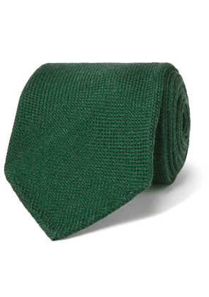 Drake's - 7cm Wool, Silk And Cashmere-blend Tie - Green