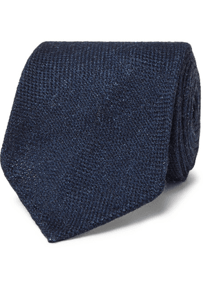 Drake's - 7cm Wool, Silk And Cashmere-blend Tie - Blue
