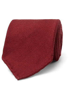 Drake's - 7cm Wool, Silk And Cashmere-blend Tie - Red