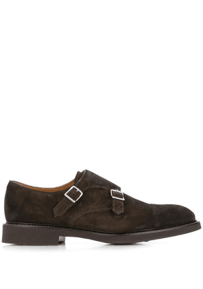 Doucal's double-strap monk shoes - Black