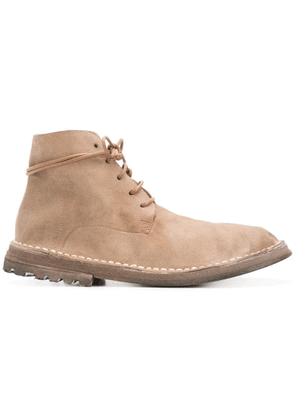 Marsèll curved lace-up boots - Neutrals