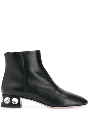 Miu Miu crystal embellished ankle boots - Black