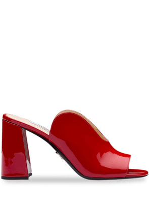 Prada cut out detailed mules - Red