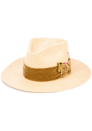 Nick Fouquet woven style hat - Brown