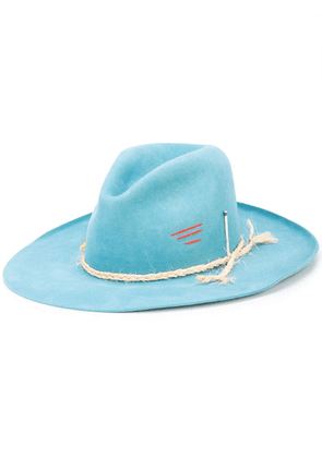 Nick Fouquet distressed rope detail hat - Green