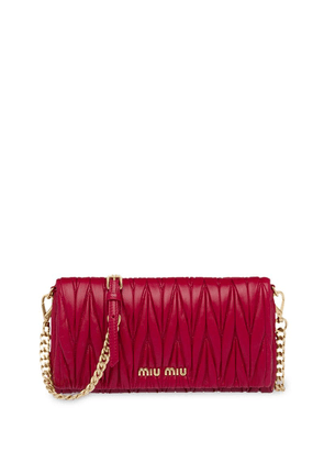 Miu Miu matelassé nappa leather mini-bag - Red