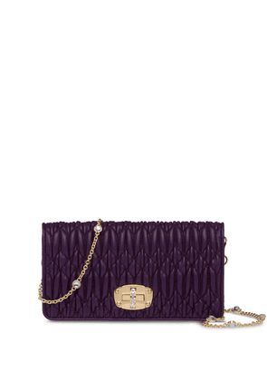 Miu Miu embellished Matelassé mini bag - Purple