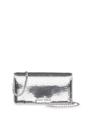 Miu Miu sequinned mini bag - Silver