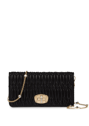 Miu Miu Crystal Gold mini-bag - Black