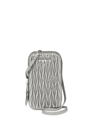 Miu Miu metallic Matelassé mini bag - Grey