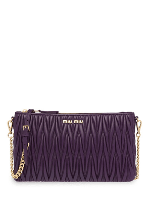 Miu Miu matelassé shoulder bag - Purple