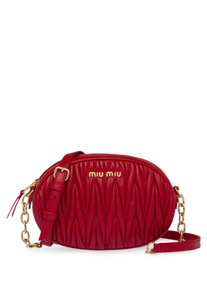 Miu Miu matelassé bandoleer shoulder bag - Red