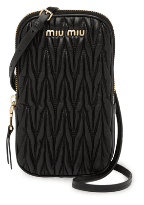 Miu Miu matelassé mini-bag - Black