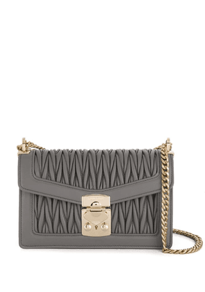 Miu Miu Miu Confidential matelassé leather shoulder bag - Grey