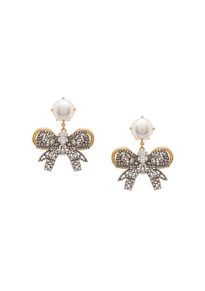 Miu Miu Pearl Bow Jewels earrings - White