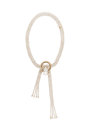 Miu Miu new crystal jewels necklace - Gold