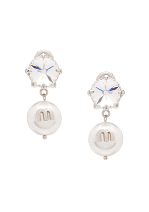 Miu Miu Solitaire Jewels earrings - White