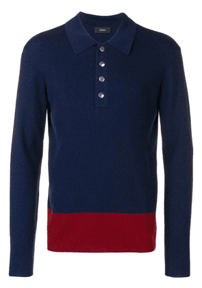 Joseph fine ribbed polo shirt - Blue